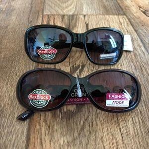 Lot of 2 Women Sunglasses Foster Grant MaxBlock